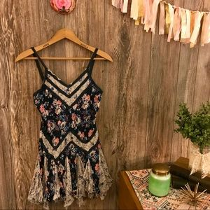 {intimately free people} floral trapeze slip xs